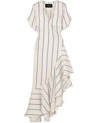 Paper London Robe aux genoux - Blanc