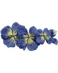 Erika Cavallini Semi Couture Brooch - Blue