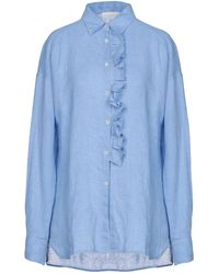 Glanshirt Hemd - Blau