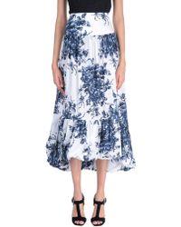 Sonia Rykiel 3/4 Length Skirt - Blue