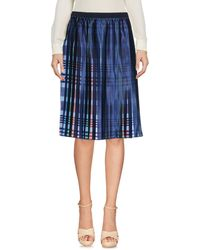 Emporio Armani Knee Length Skirt - Blue