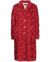 The Gigi Teddy coat - Rosso