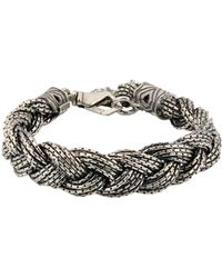 Emanuele Bicocchi - Sterling Silver Braided Bracelet - Lyst