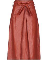 Motel 3/4 Length Skirt - Red