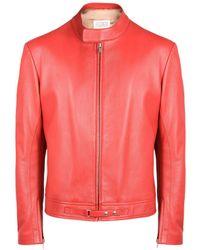 Maison Margiela - Sports Jacket In Ovine Leather - Lyst