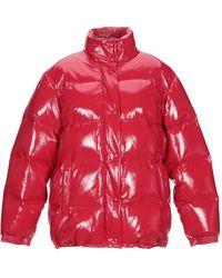 Alberta Ferretti Synthetic Down Jacket - Red