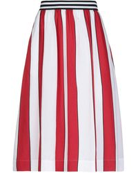 Woolrich Falda a media pierna - Rojo