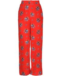 Ganni Casual Pants - Red
