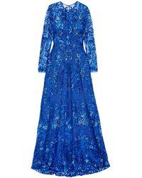 Naeem Khan Vestito lungo - Blu