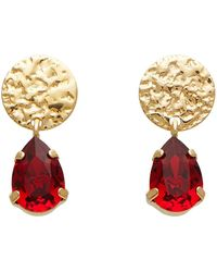 8 by YOOX Earrings - Red