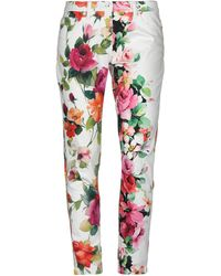 Blumarine Denim Pants - White