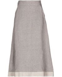 Eleventy Midi Skirt - Gray