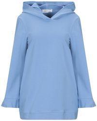 Satine Label Sweatshirt - Blue