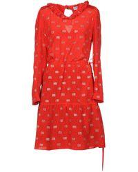 Balenciaga Vestido por la rodilla - Rojo