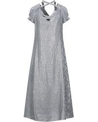 ELISA CAVALETTI by DANIELA DALLAVALLE Midi Dress - Grey