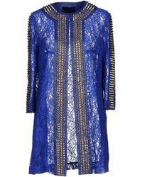 Philipp Plein Overcoat - Blue