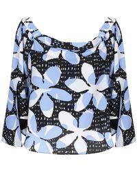 Armani Exchange   Florl Shoulder Top - Blue