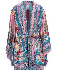 Black Coral Overcoat - Pink