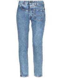 Filles A Papa Denim Trousers - Blue