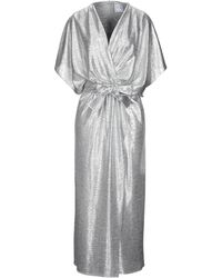 In the mood for love Long Dress - Metallic