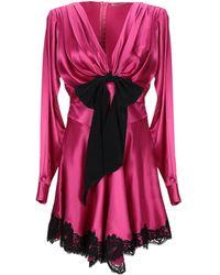 Alessandra Rich Kurzes Kleid - Pink