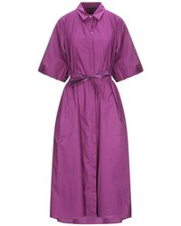 Brian Dales 3/4 Length Dress - Purple