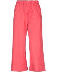 Another Label Pantalone capri - Rosso