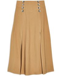 TOPSHOP Long Skirt - Brown