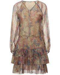 Mes Demoiselles Short Dress - Brown