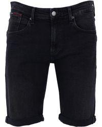 Tommy Hilfiger Bermuda en jean - Noir