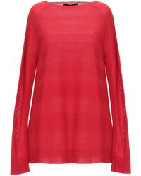 Blue Les Copains Sweater - Red