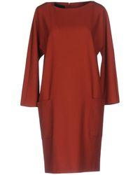 Blue Les Copains - Short Dress - Lyst