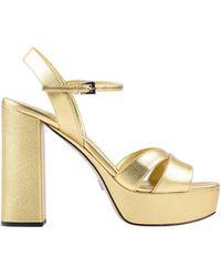Prada Sandals - Metallic