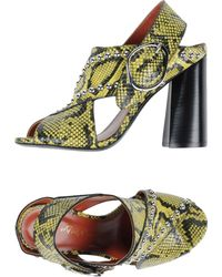 3.1 Phillip Lim - Patsy Studded Snake-effect Leather Sandals - Lyst