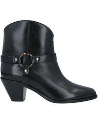 Francesco Russo Ankle Boots - Black