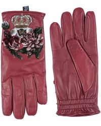 Dolce & Gabbana Guantes - Rojo