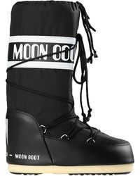 Moon Boot Womens Nylon Boots Black