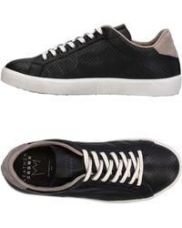 Leather Crown Sneakers & Tennis basses - Noir