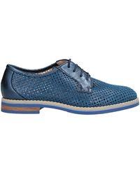 Donna Soft Lace-up Shoe - Blue