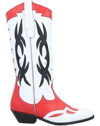 Catarina Martins Knee Boots - White