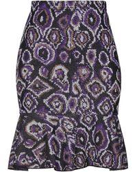 VIKI-AND Knee Length Skirt - Purple