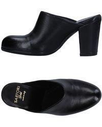 Sartori Gold Mules - Black