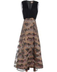 Space Style Concept Long Dress - Brown