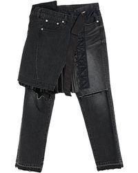 Sacai Pantalon en jean - Noir