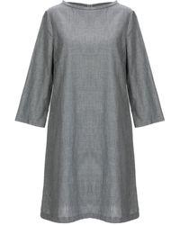 Satine Label Short Dress - Grey
