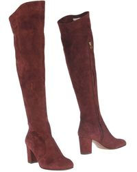 L'Autre Chose Knee Boots - Red