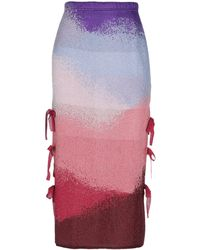 VIKI-AND Midi Skirt - Purple