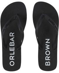 Orlebar Brown - Toe Strap Sandals - Lyst