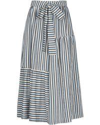 Chinti & Parker 3/4 Length Skirt - Blue