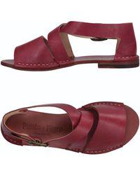 Punto Pigro Sandals - Red